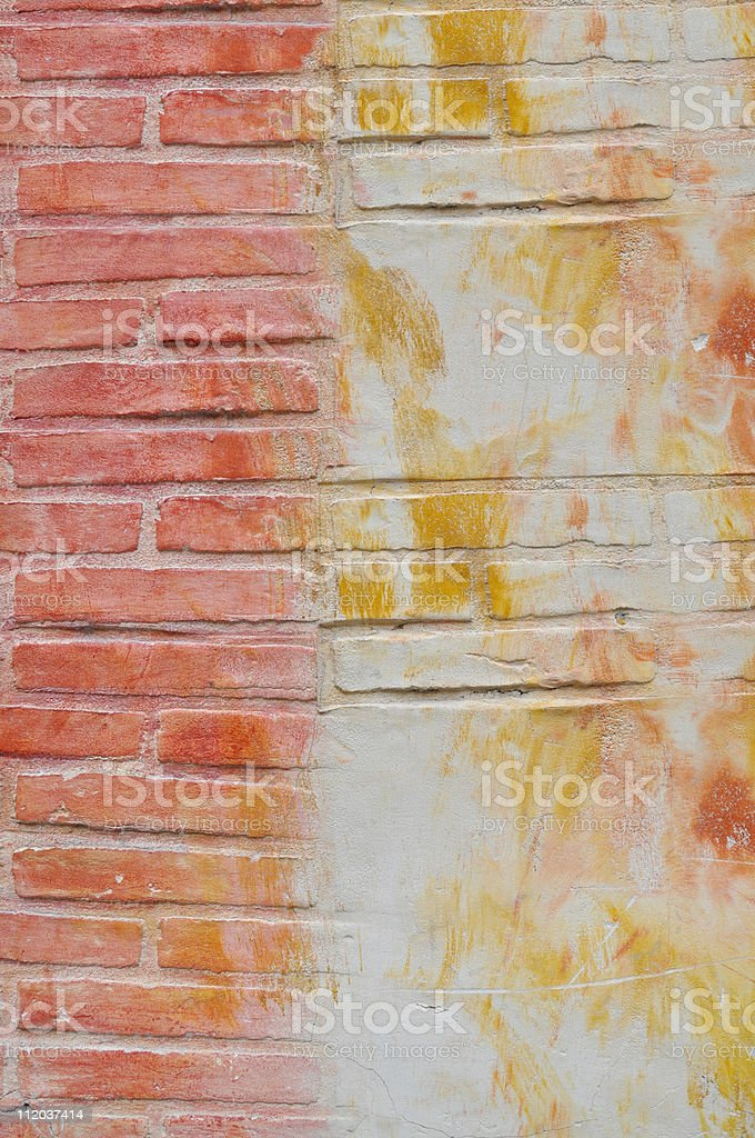 Grungy Brick Wall Background royalty-free stock photo