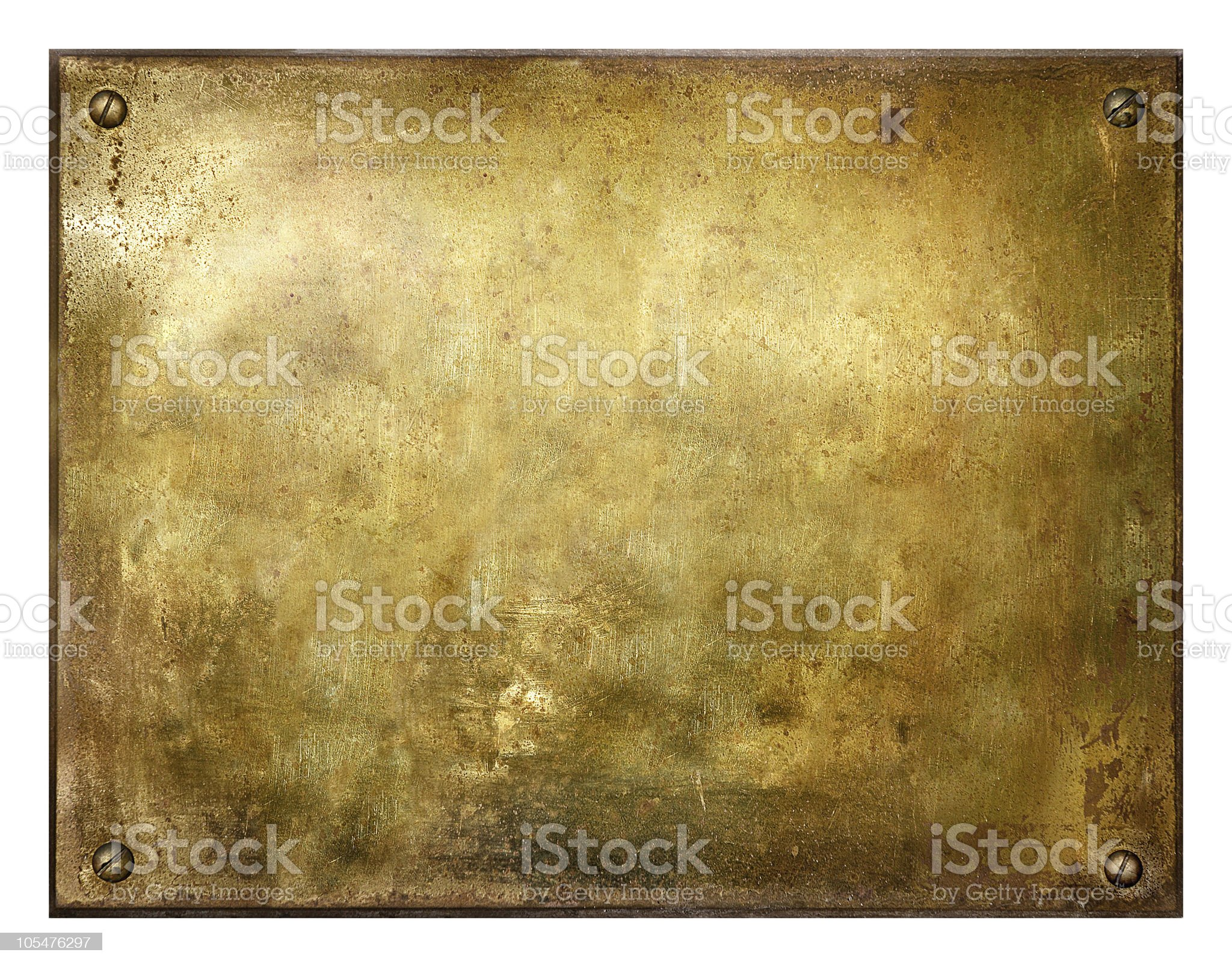 Grungy Brushed Brass Sign royalty-free stock photo