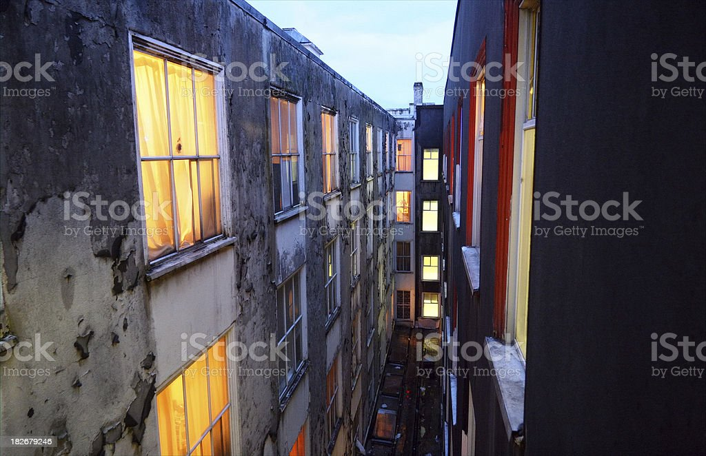 Grungy Buildings stock photo