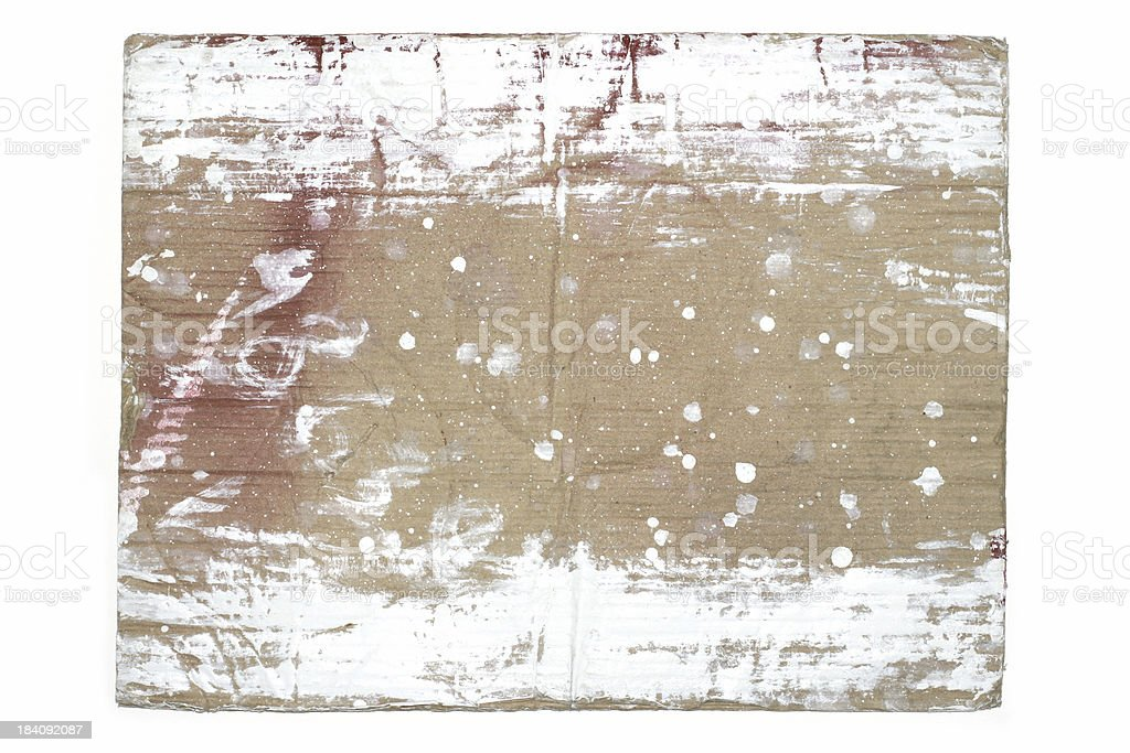Grungy Cardboard royalty-free stock photo