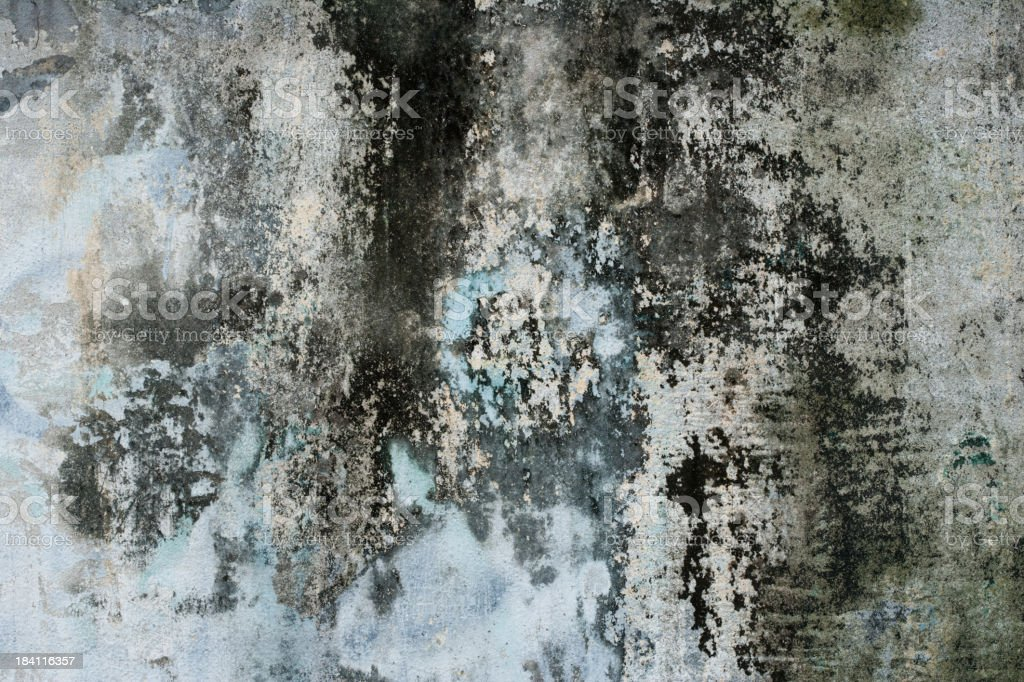 Grungy Colorful Dilapidated Concrete Wall stock photo