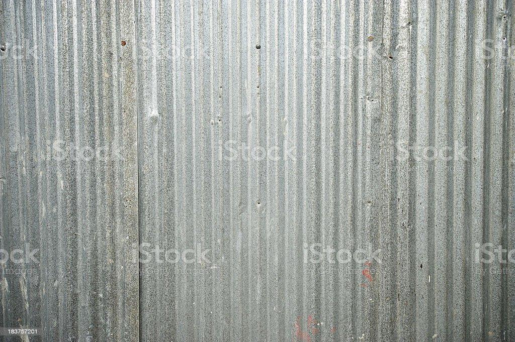 Grungy Corrugated Tin Full Frame Background royalty-free stock photo