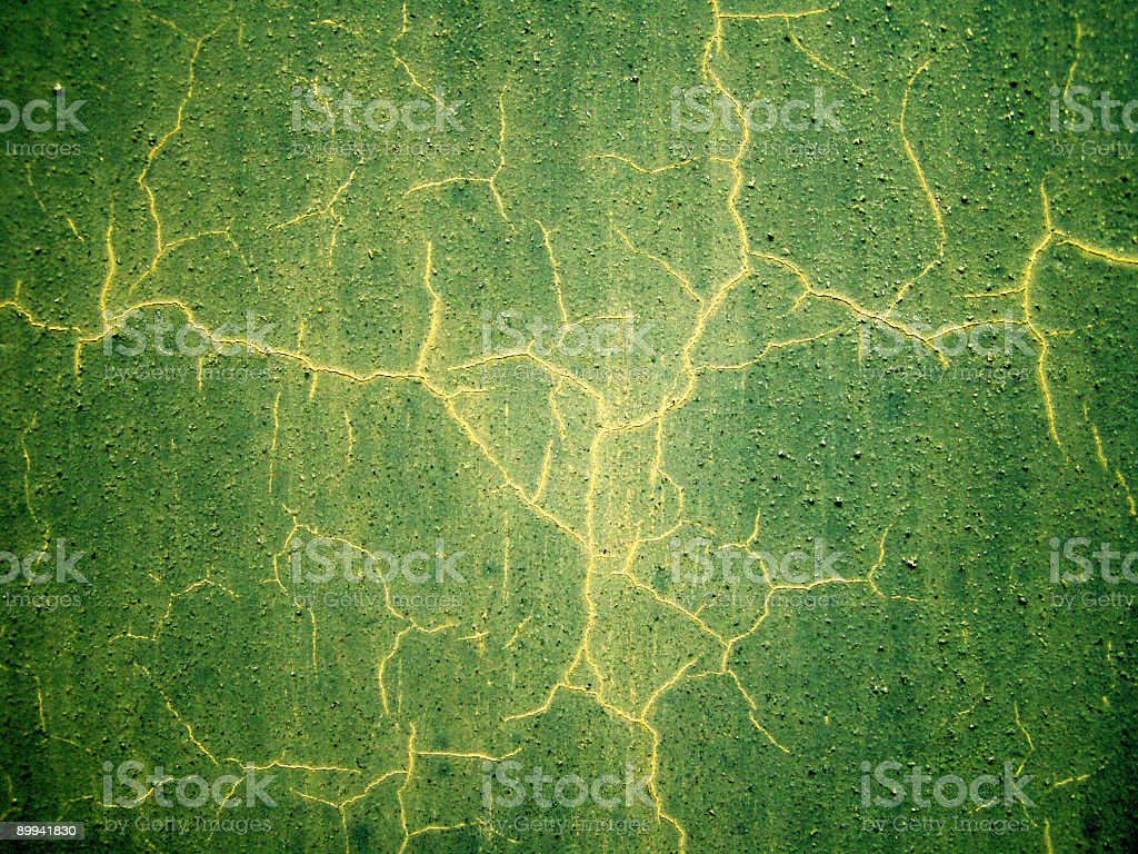 Grungy cracked green wall royalty-free stock photo
