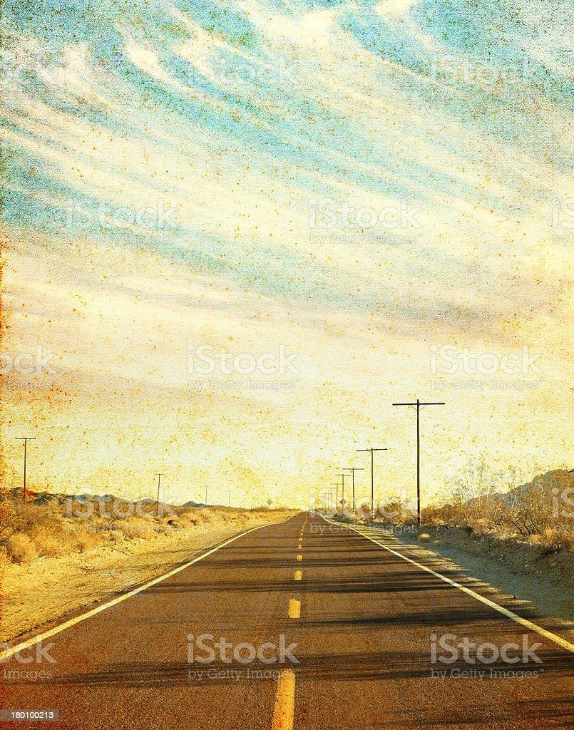 Grungy Desert Road stock photo