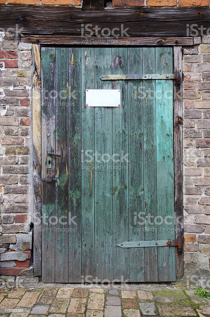Grungy door royalty-free stock photo