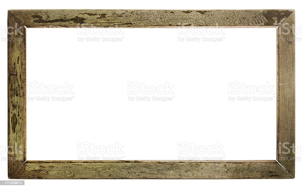 Grungy Empty Frame (Clipping Path) royalty-free stock photo