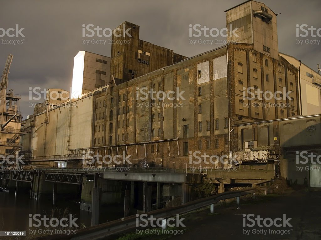 grungy factory royalty-free stock photo