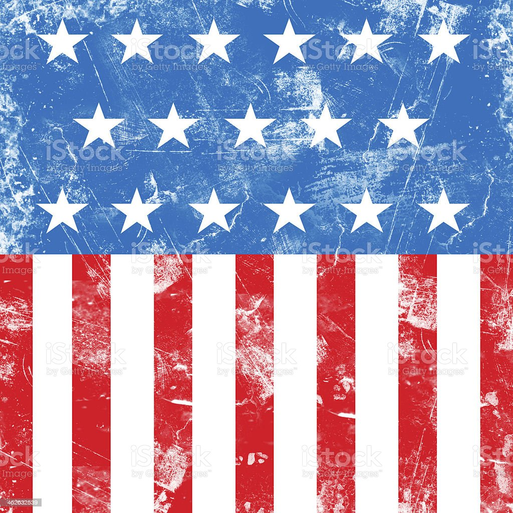 Grungy faded USA flag background stock photo