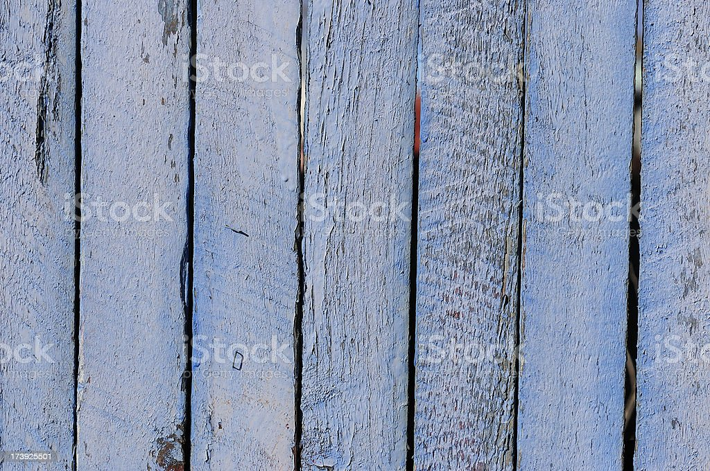 Grungy Flaky Blue Fence Background royalty-free stock photo