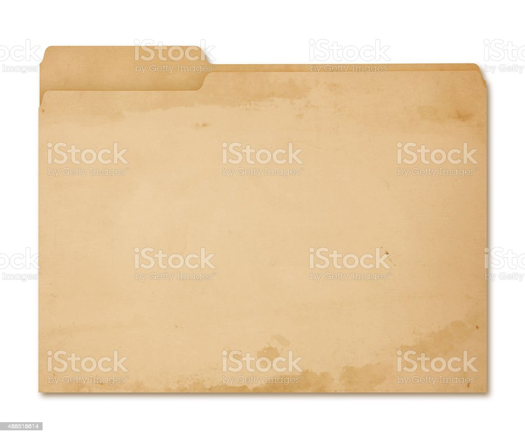 Grungy Folder (with path) stock photo