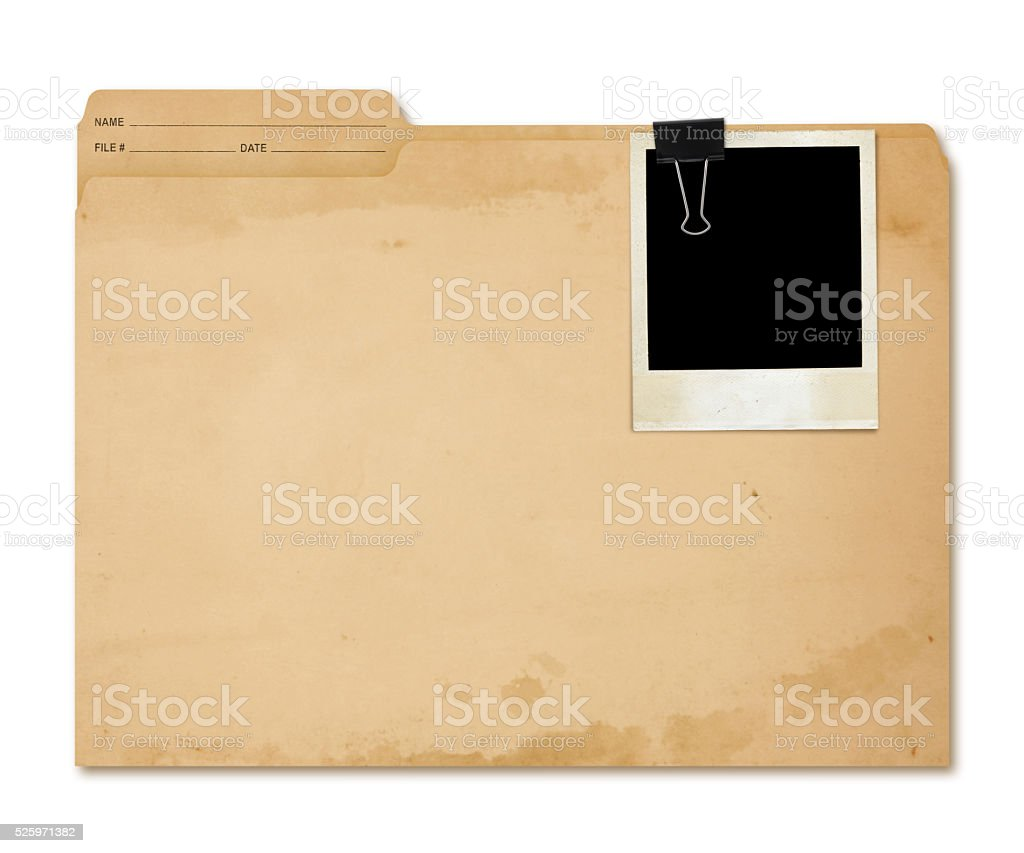 Grungy Folder (with 2 paths) stock photo