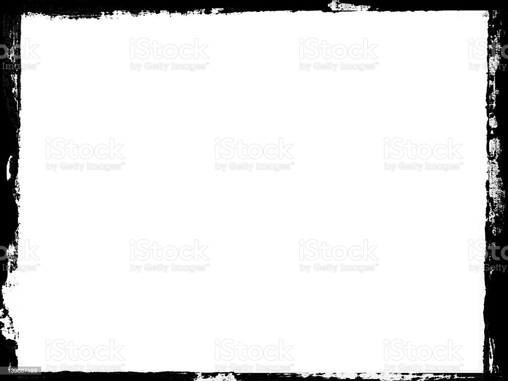 Grungy frame for photograph or portfolio royalty-free stock photo