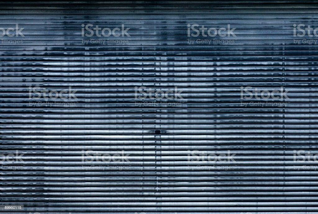 grungy garagedoor (duotone) royalty-free stock photo