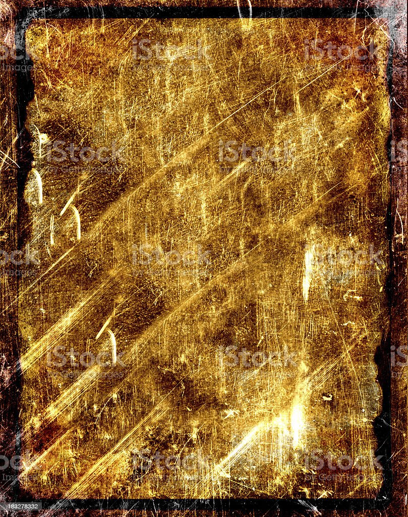 grungy gold scars on paper metal background stock photo