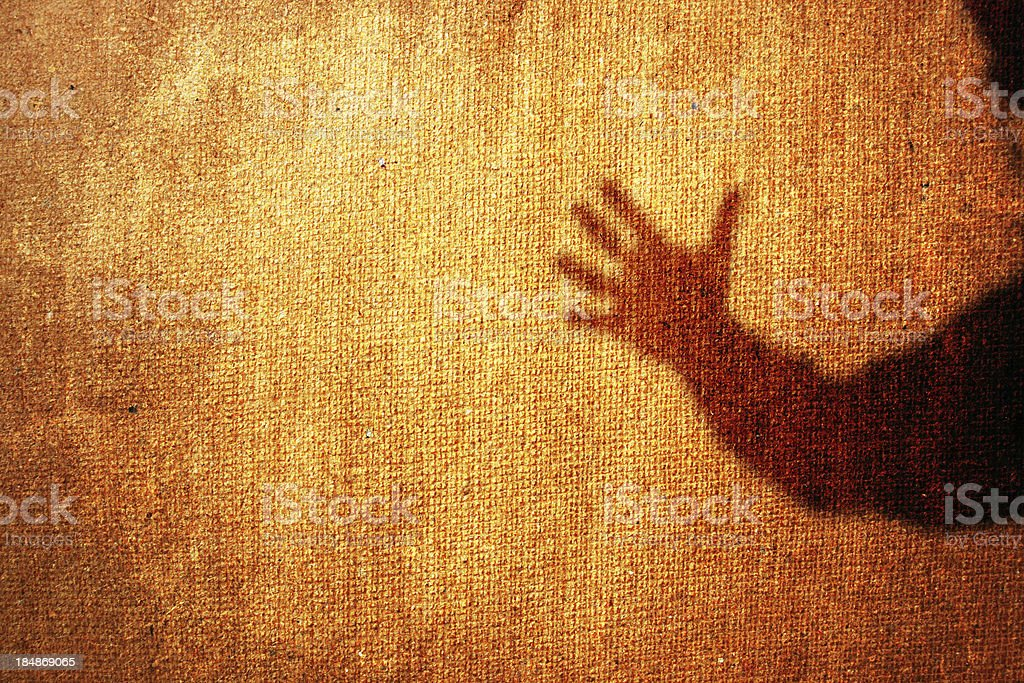 Grungy help hand royalty-free stock photo