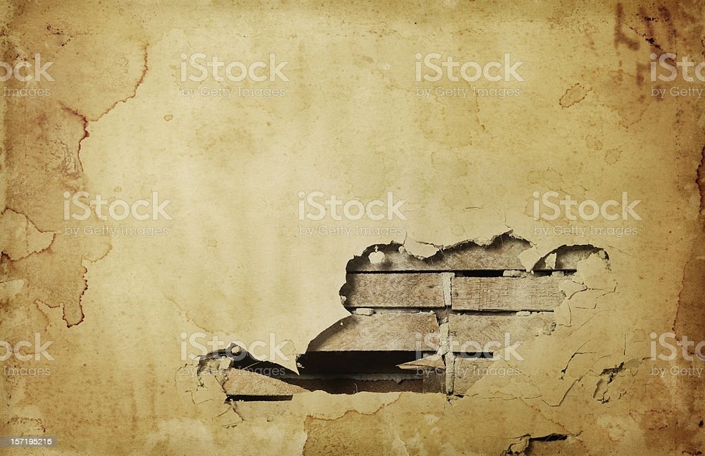 Grungy Hole in the Wall stock photo