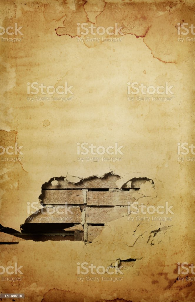 Grungy Hole in the Wall royalty-free stock photo