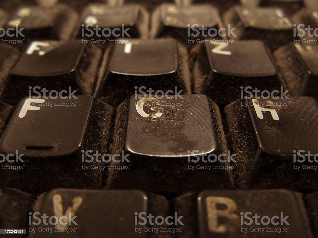grungy keys royalty-free stock photo