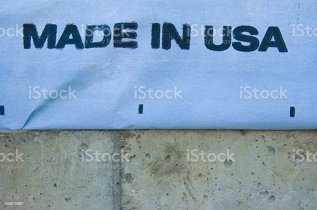 Grungy Made in USA royalty-free stock photo