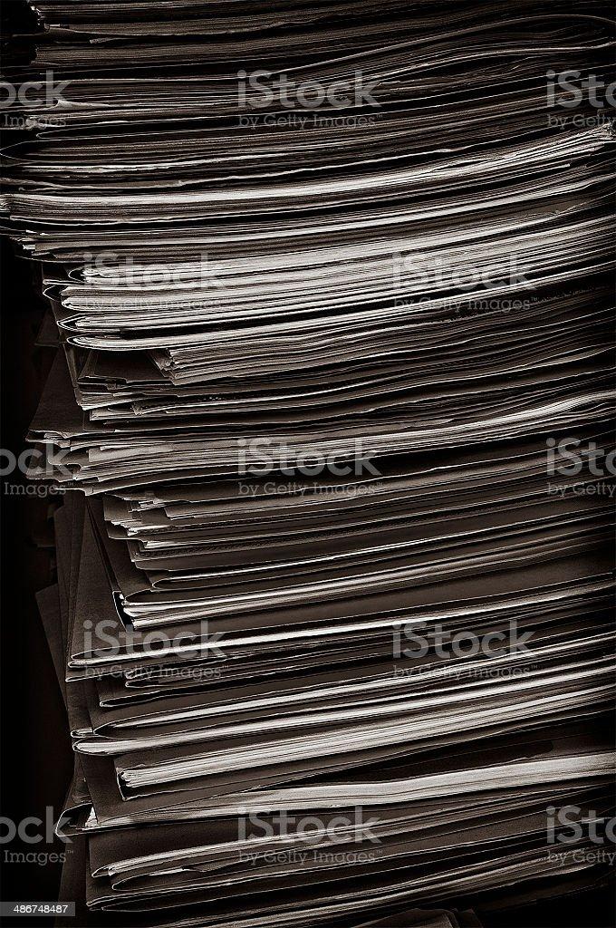 Grungy Manila File Folders royalty-free stock photo