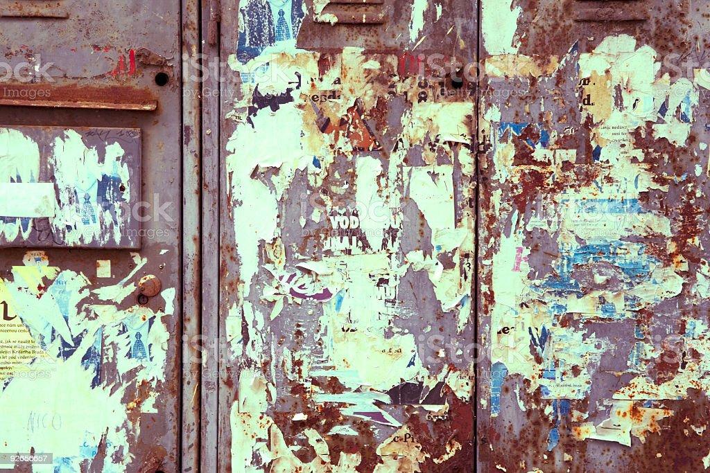 Grungy Metal Door stock photo