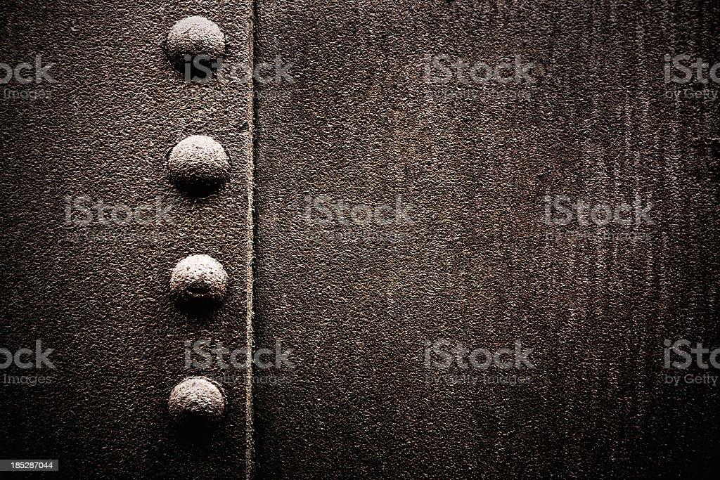 Grungy Metal XXXL Background with Rivets royalty-free stock photo