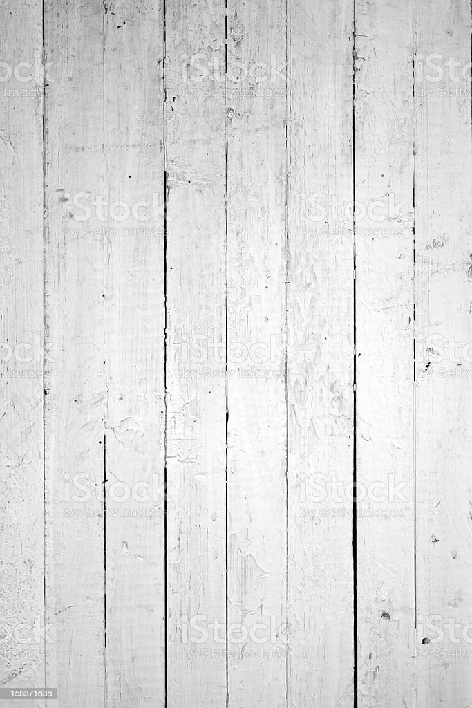 Grungy monochromatic image of natural white wooden planks stock photo
