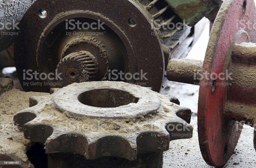 Grungy motor gear royalty-free stock photo