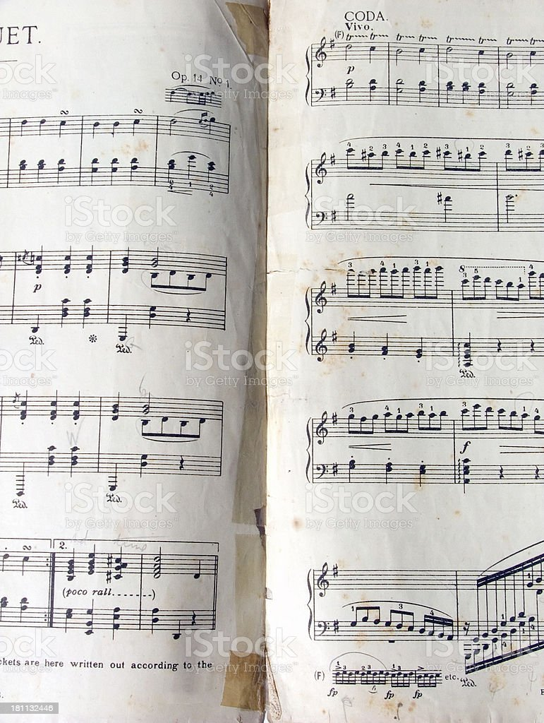 grungy music from 1930s stock photo