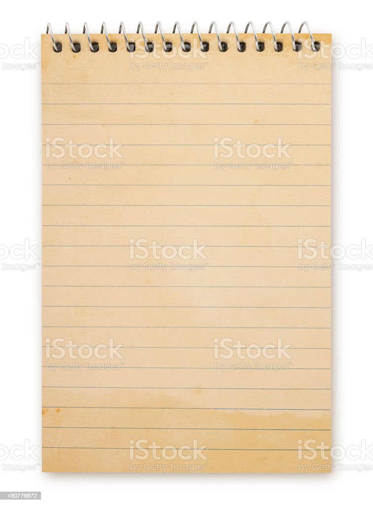 Grungy Note Pad (with path) stock photo