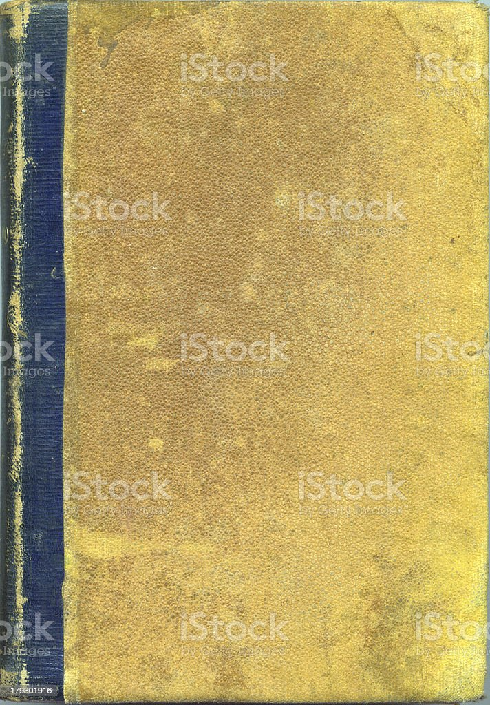 Grungy, old book cover stock photo
