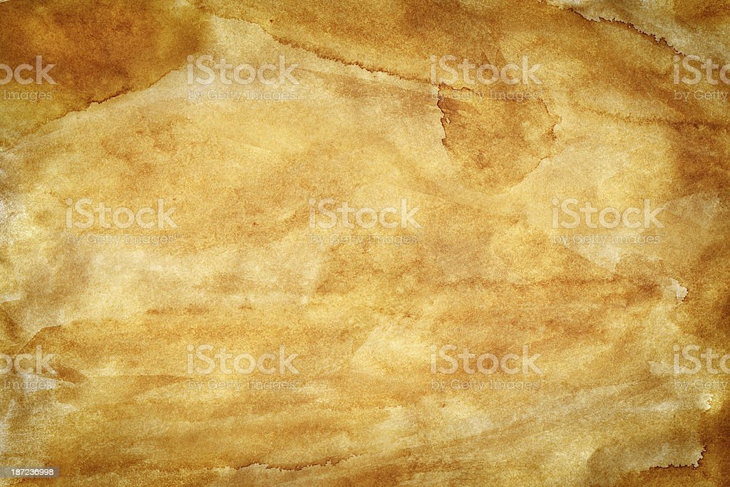 Grungy Old Paper, heavy stained royalty-free stock photo
