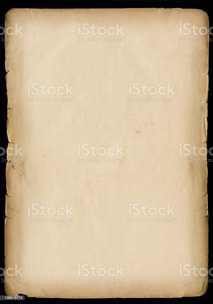 Grungy Old Paper (Hi Res) stock photo