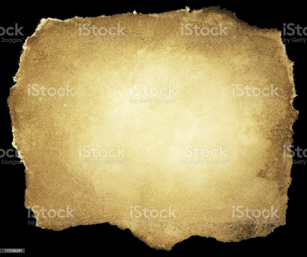 Grungy Old Paper (Clipping Path; XXL) royalty-free stock photo