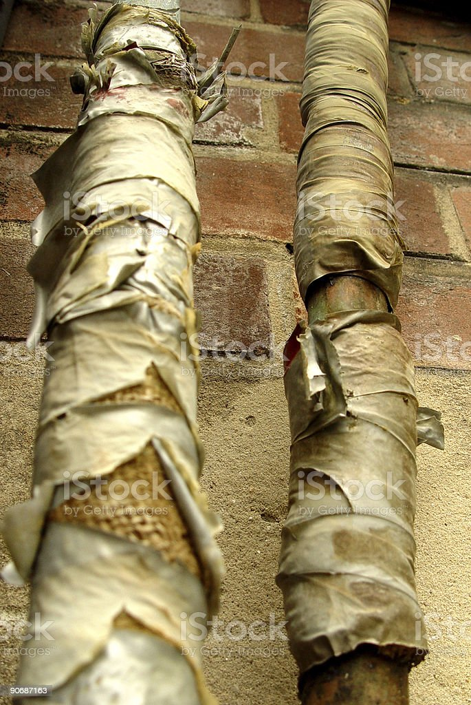 Grungy old pipes royalty-free stock photo