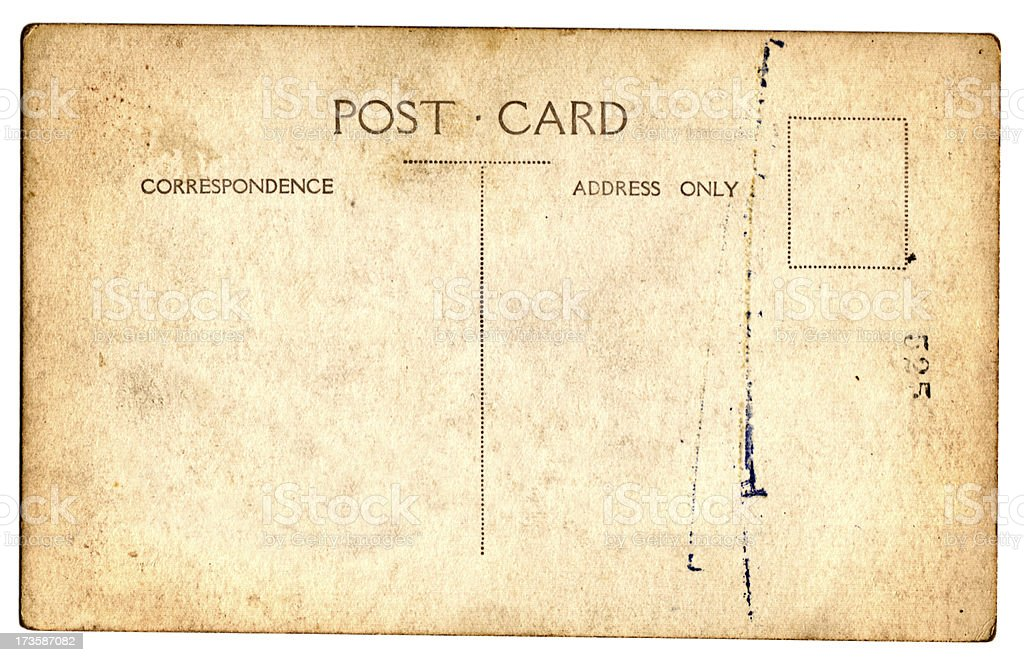 Grungy Old Postcard royalty-free stock photo