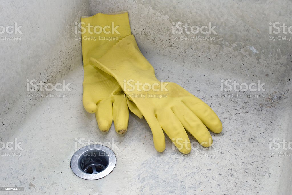 Grungy Old Sink stock photo