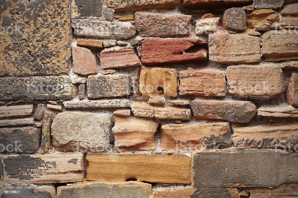 Grungy Old Stone Wall royalty-free stock photo