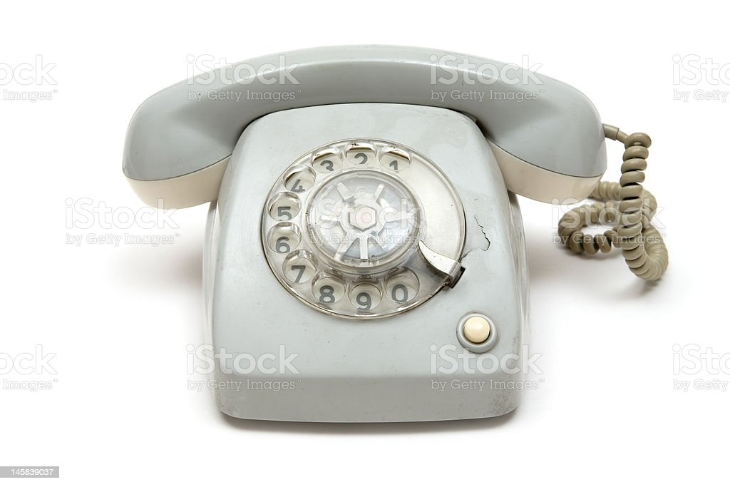 Grungy Old Telephone stock photo