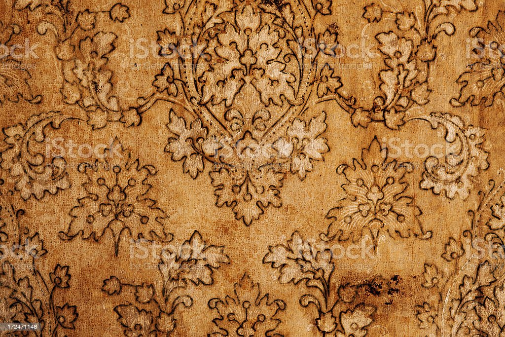Grungy old wall paper royalty-free stock photo