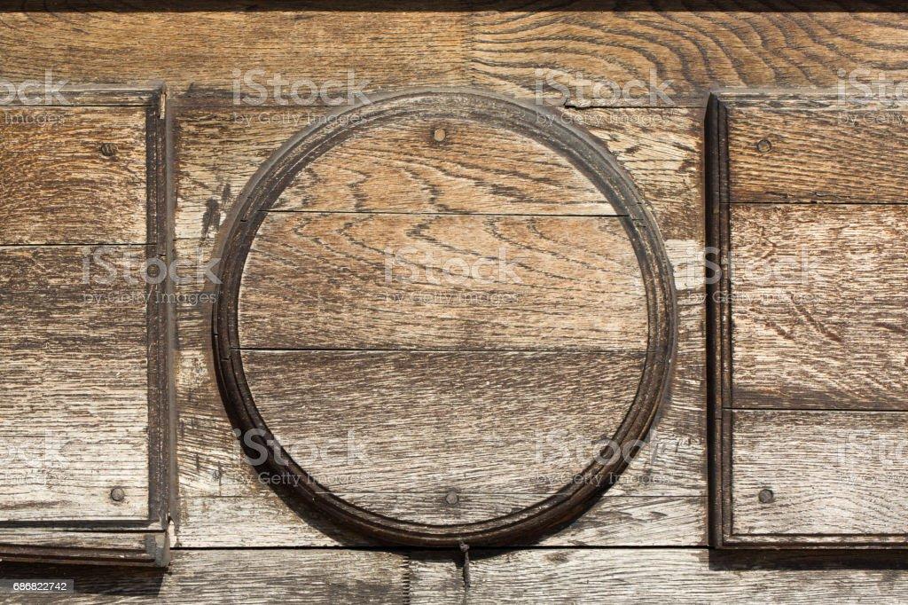 Grungy old wooden door stock photo