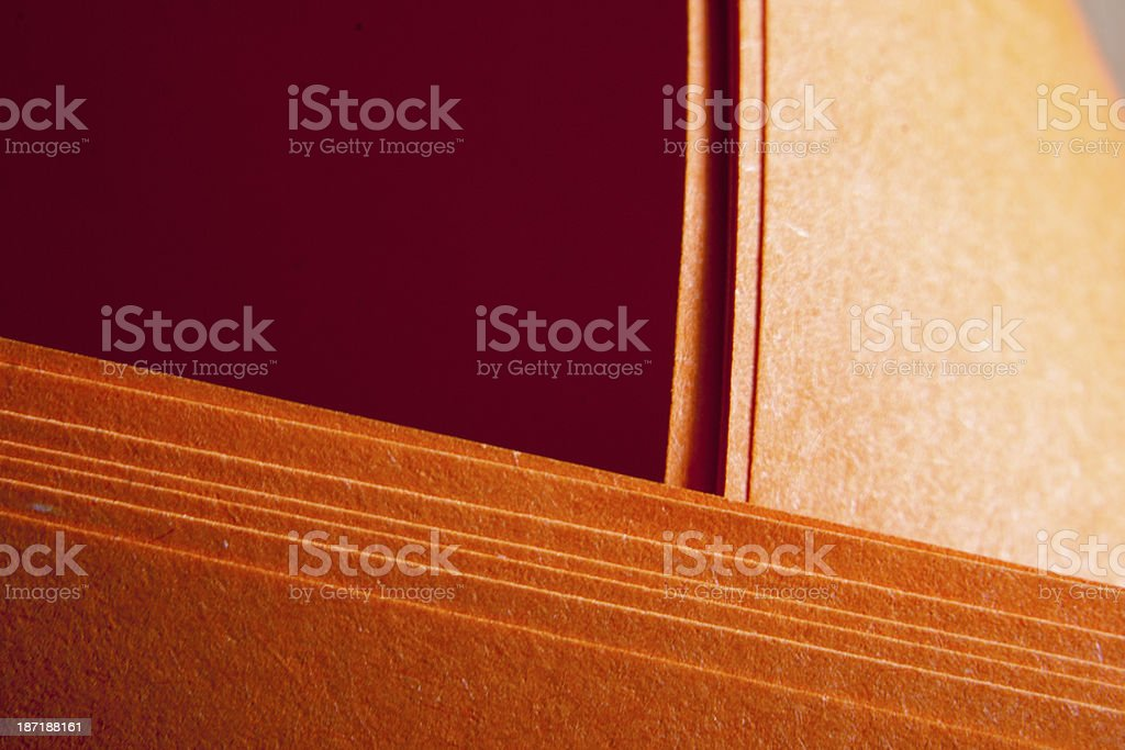 Grungy orange paper folds royalty-free stock photo