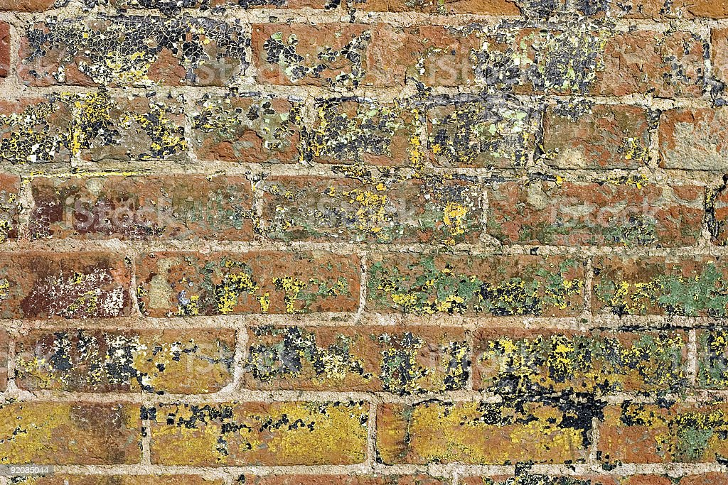 Grungy Painted Brick And Mortar Background stock photo