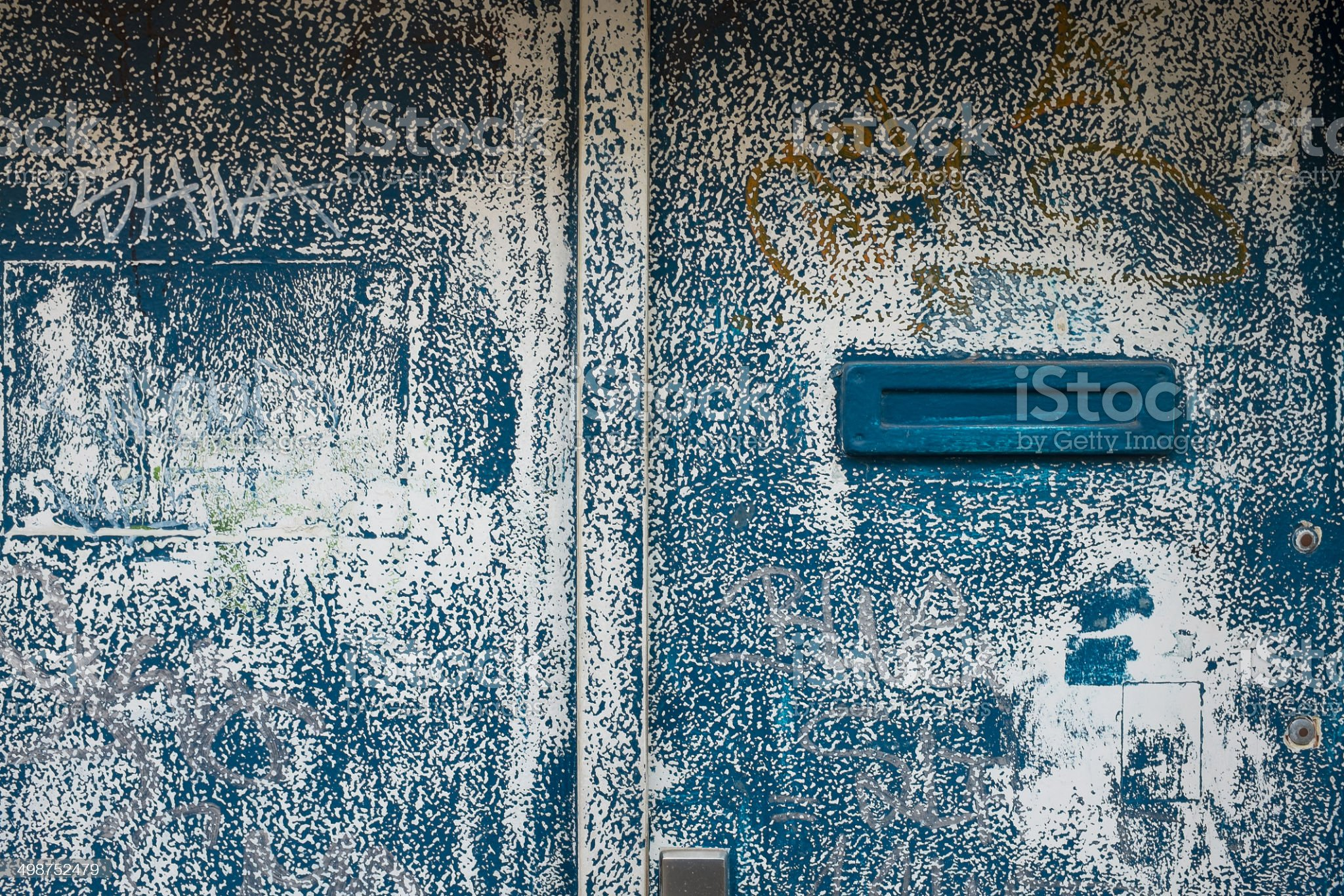 Grungy Painted Door Background royalty-free stock photo