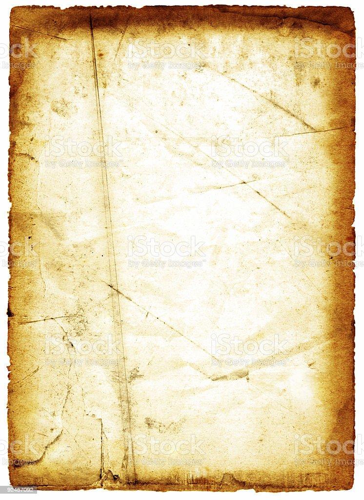 Grungy Paper, Orange (burnt) royalty-free stock photo