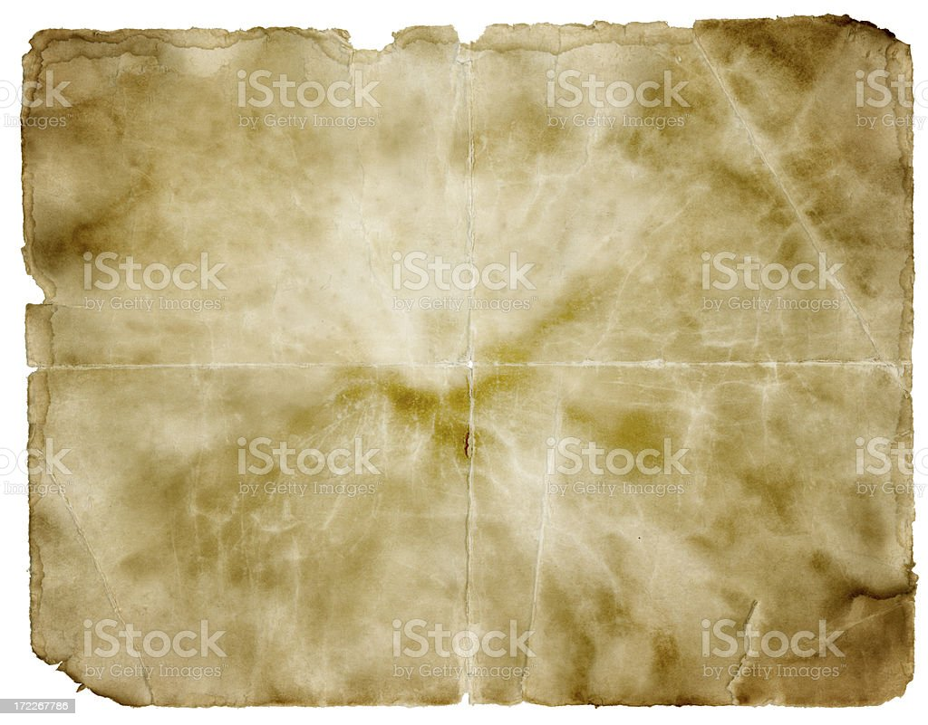 Grungy Paper (Clipping Path; XXL) royalty-free stock photo