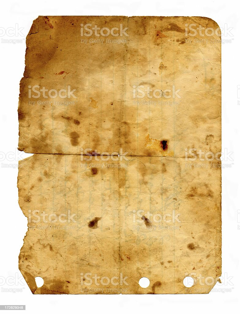 Grungy Paper royalty-free stock photo