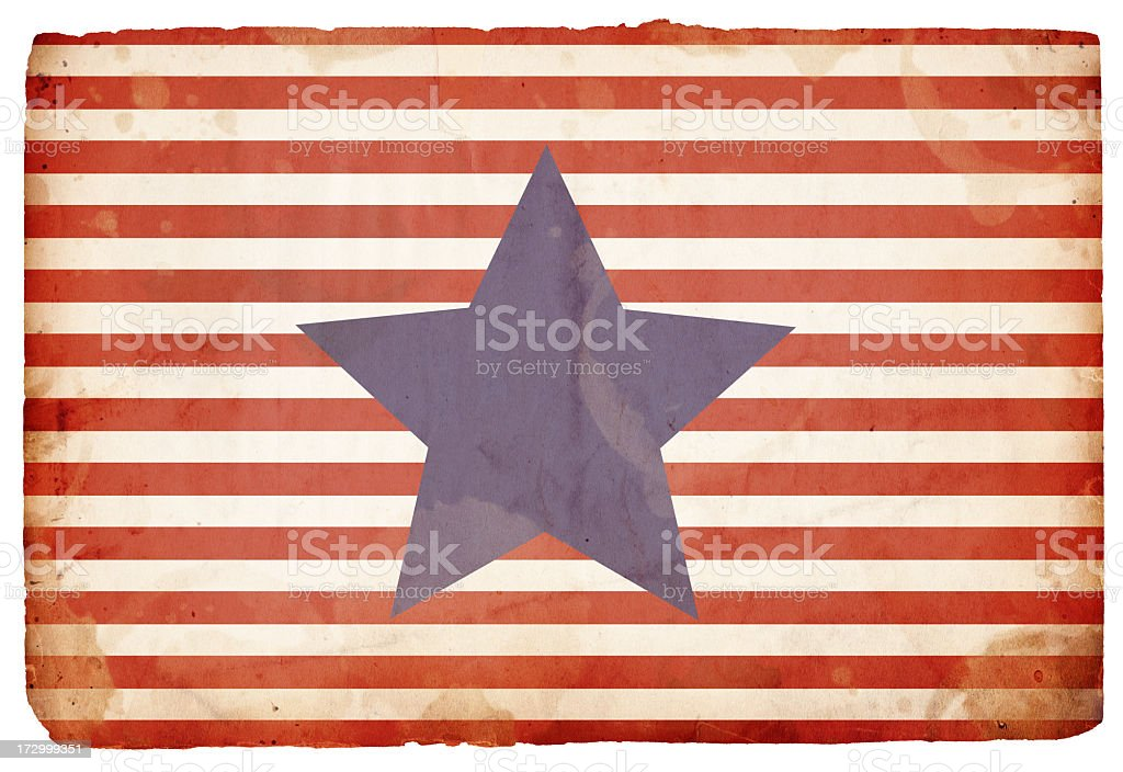 Grungy Patriotic Star and Stripes Background File: XXXL Paper stock photo