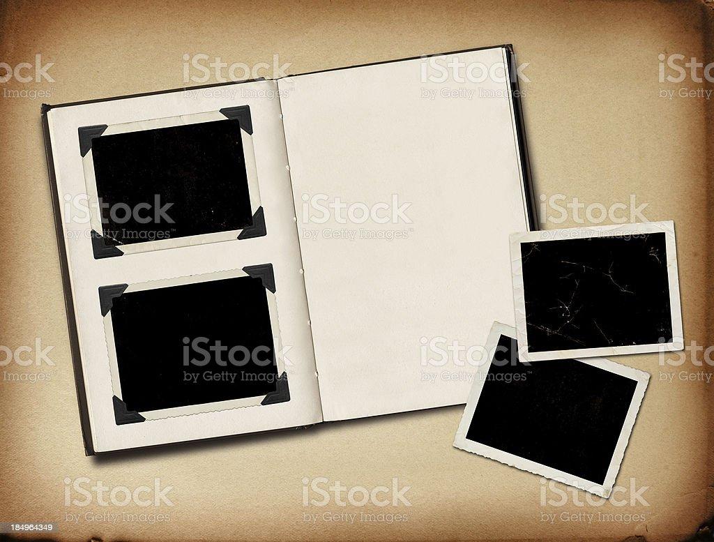 Grungy photo album stock photo