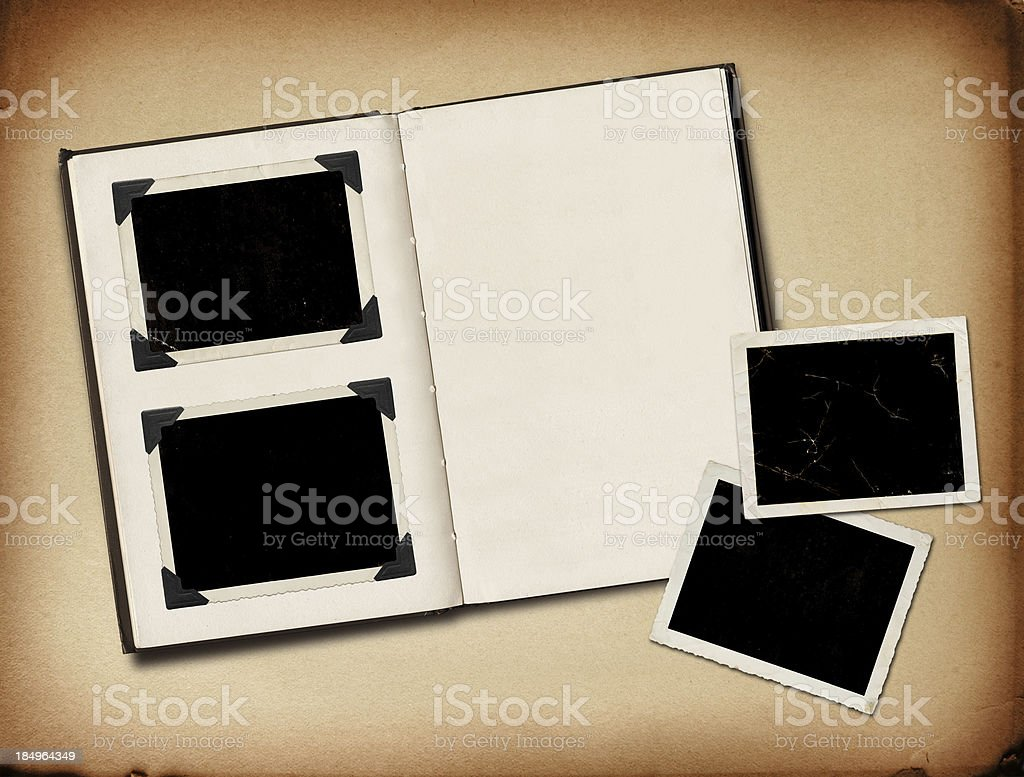 Grungy photo album stock photo